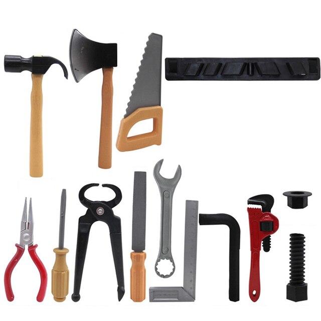 14 шт. инструмент для обслуживания детей, обучающий воображаемый инструмент для ремонта, игрушки для детей, набор коробок-AB тип, смешанная до...