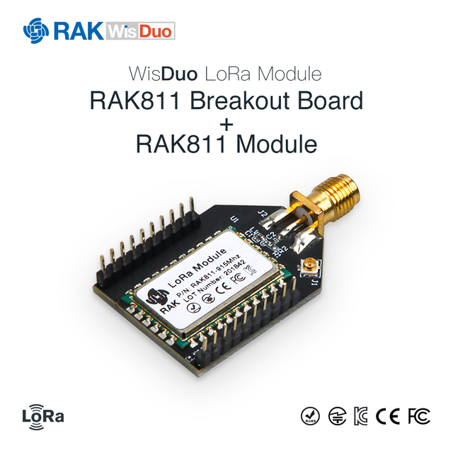 RAK811 Open Source Development Board LoRa WiFi Module Quickly Test Breakout Board Small Tiny Size 3.3V SMA + IPX 868/915MHz Q108