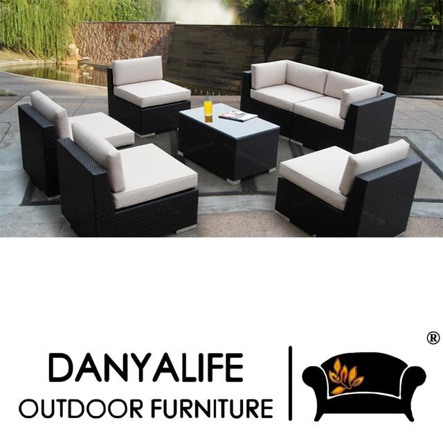 Gut DYSF D7602 Danyalife Poly Rattan High Quality Outdoor Sofa Set