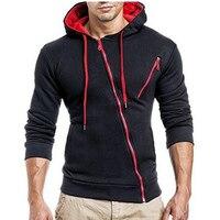 2017 Hoodies Men Sweatshirt 3d Hoodies Mens Brand Hoodie Oblique Zipper Hoodie Sweatshirt Slim Fit Men