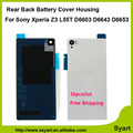 10pcs/lot Black white Gold cheap price Back Housing Battery Door Glass Cover +Adhesive For Sony  Xperia Z3 L55 L55w D6603 D6653