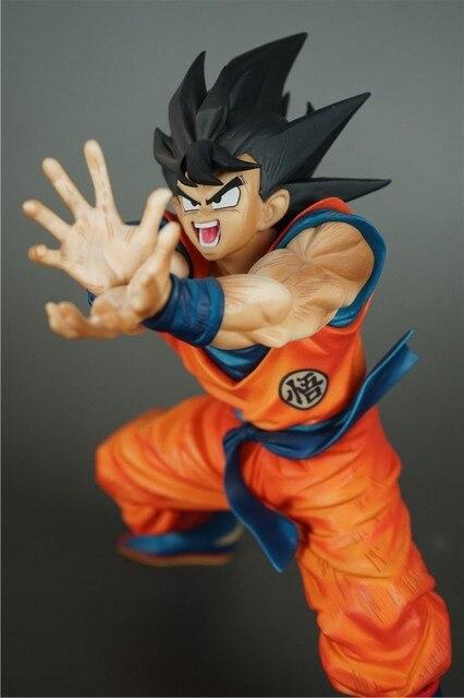 Dragon Ball Z Goku Figura de Ação Voltada Para O Estilo da Onda de Choque DBZ Goku Super Saiyan Modelo Coleção Brinquedos 20 cm