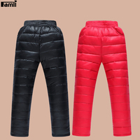 Famli Unisex Kids Winter Down Pant Children Girls Fashion Warm Thick Sport Trousers 4Y 10Y Boys