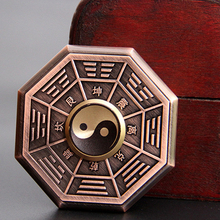 Китайский Древняя культура Историческое Наследие Тай Цзи Ба Гуа EDC Руки Spinner Металлический Непоседа Spinner Чувствовать Себя Супер Хороший Стресс Игрушка