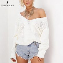 PinkyIsBlack 2019 New Spring Deep V Women Sweater And Pullovers Twist Knitted S-5XL Autumn Winter Casual Jumper