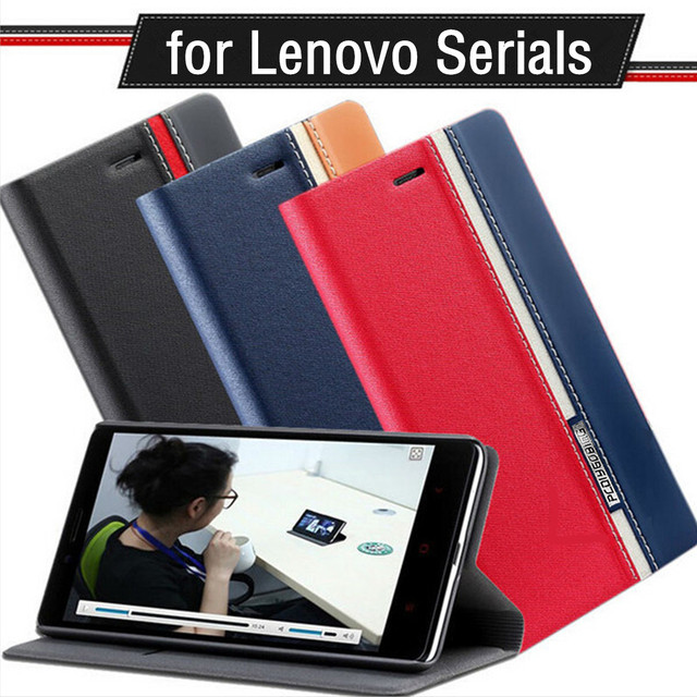 New case for Lenovo A328 A536 A2010 P70 P780 S850 S860 Vibe Shot Z90 Vibe Z2 Pro K920 Double color Flip Leather back cover Shell