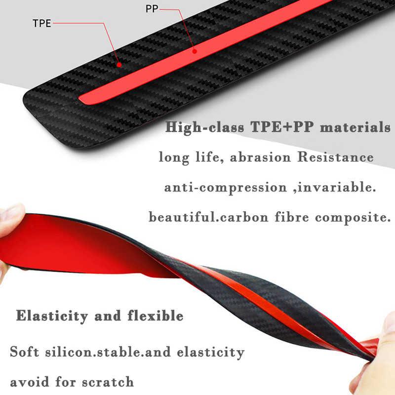 Защитный чехол из углеродного волокна для автомобильного бампера, анти-полоски от царапин, наклейка для защиты кузова автомобиля, резина для стайлинга автомобиля