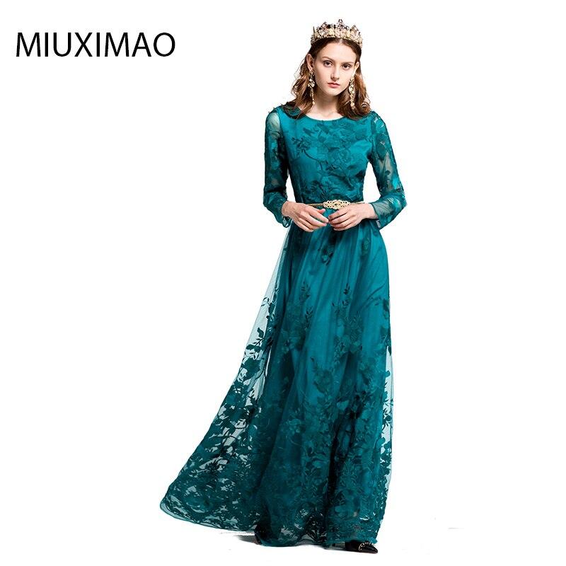 Здесь продается  High Quality New 2017 Autumn Runway Maxi Dress Women