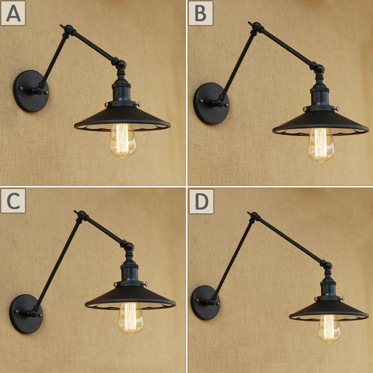Brilliant Loft Industrial Adjustable Long Swing Arm Wall Lamp Fixture Vintage Edison Bulb Wandlamp Lamparas De Pared Lights Lampen Sconce Lights & Lighting
