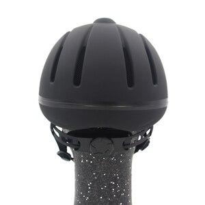 Image 3 - 전문 승마 헬멧 조정 가능한 크기 반 얼굴 커버 Questrian 라이더를위한 보호 헤드 기어 보안 장비