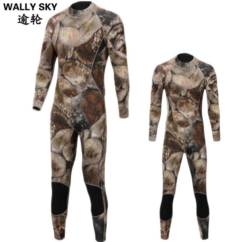 3mm Neoprene Men Wetsuit Camouflage Suit Men's Diving Wetsuit Snorkeling Swimming Suit Clothes for Men Surfing Fishing Body Suit men s winter warm swimwear rashguard male camouflage one piece swimsuit 3mm neoprene wetsuit man snorkeling diving suit