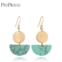Купить с кэшбэком PrePiece Ethnic Drop Earring Personality Semi-circular Earrings Bohemian Woman Jewelry for Holiday/Beach/Shopping 2018 PE1236