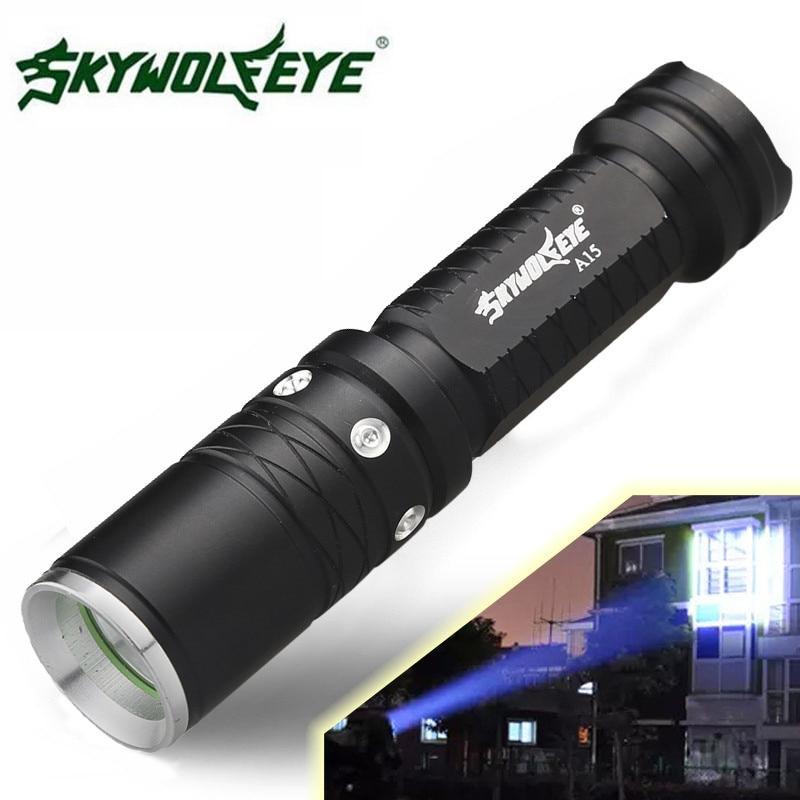 Sky Wolf Eye Super Bright 3000 Lumens 3 Modes XML T6 LED 18650 Flashlight