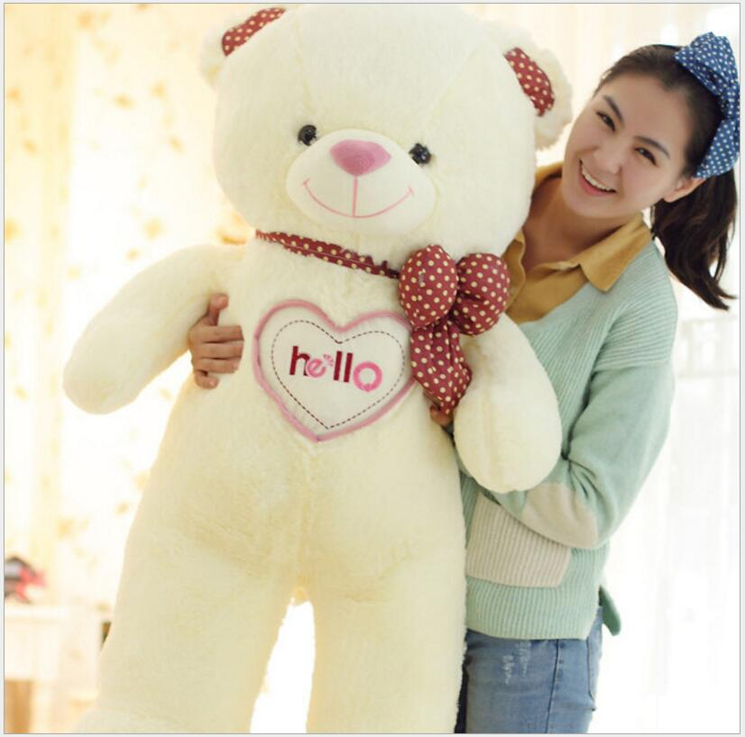 150cm Giant Large Size Teddy Bear Plush Toys Stuffed Toy Lowest Price Birthday gifts Christmas Baby Toy Kawaii Toy 70cm fluorescent bear wedding birthday gift wholesale creative new large plush bear toys to give their children christmas gifts