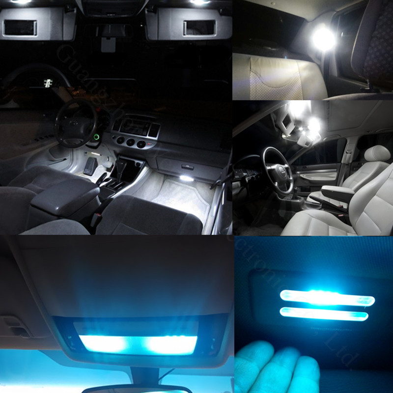 wljh 8x high quality 2835 smd lamp bulb car led interior light package kit for toyota camry 2007. Black Bedroom Furniture Sets. Home Design Ideas