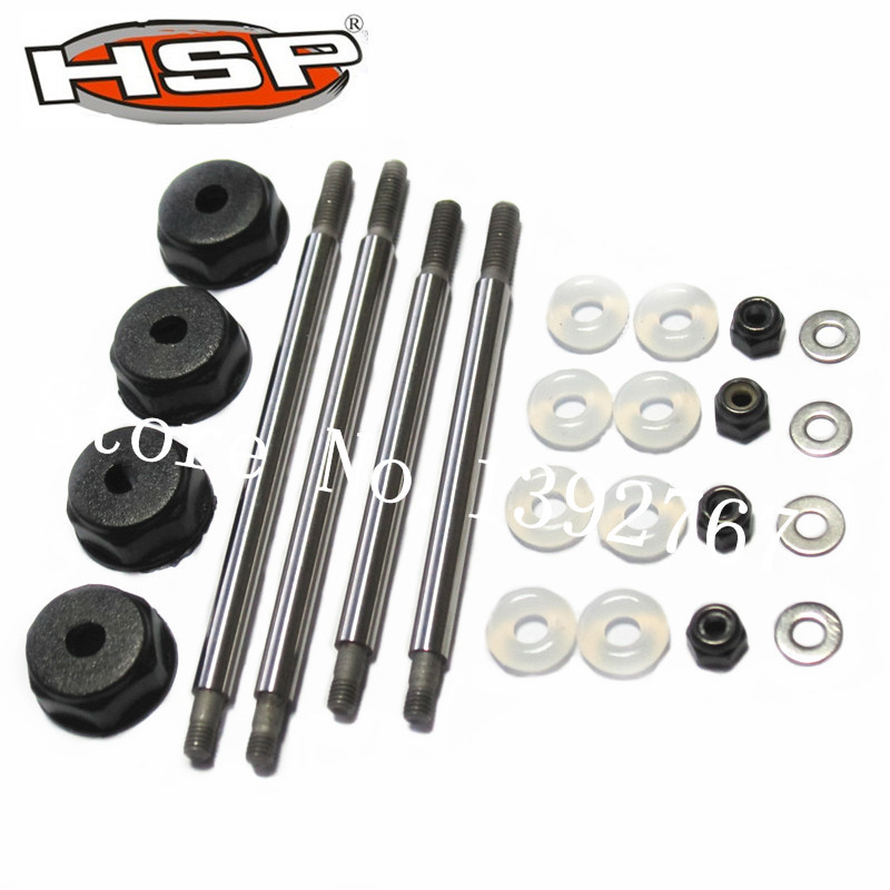 81030 HSP 1/8 Parts Shock Shafts Nuts For R/C Car Nitro Monster Truck Buggy BAZOOKA Tornado Rattlesnake Copperhead SEAROVER  81021 drive gear joint cups rc hsp 1 8 parts rc car monster truck buggy bazooka tornado rapido rattlesnake copperhead searover