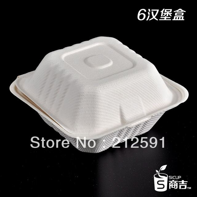 Free Shipping Cheap Disposable Eco Friendly 6 inch Square Lunch Box