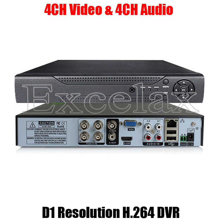 4 CH Channel Standalone DVR H.264 iphone CCTV Security