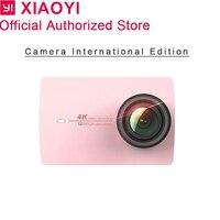 Международный Xiaomi Yi 4k розовый действие Камера Спорт Cam Открытый Kamera Экран Wi Fi Bluetooth Водонепроницаемый Сенсорный экран Camaras APP