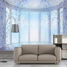 Benutzerdefinierte Foto Tapete Romantische Lila Traum 3D Hintergrund Wand TV Wohnzimmer Dekorative Tapetenwan