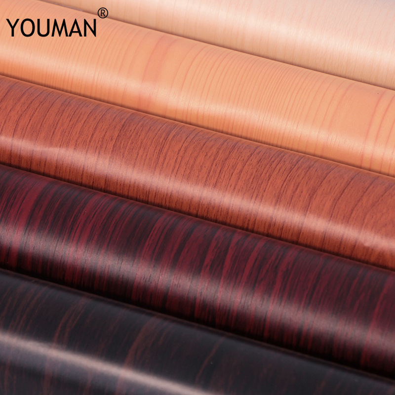 Купить с кэшбэком Wallpapers YOUMAN Solid PVC Self-Adhesive Pearl Thickening Wood Stickers Waterproof Paint Wallpaper Decorative Wall Decals Decel