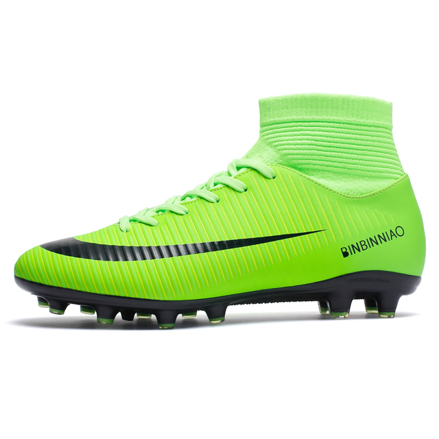 3a5418235 Kids Boy Girls Outdoor Soccer Cleats Shoes TF/FG Ankle Top Football Boots  Soccer Training Sneakers Child Sports Shoes EU32--38