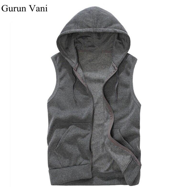 Mens Sleeveless Hoodies Fashion Casual Hooded Sweatshirt Men Hip Hop Hoodie Men's Sportswear High Quality 5 Color Size M-XXL A36