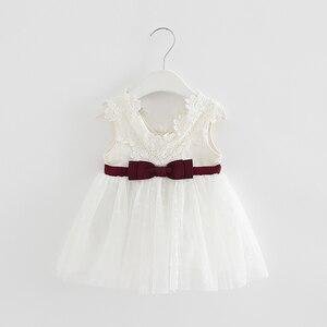 Image 3 - Varejo verão recém nascido com decote em v laço princesa vestido infantil bebê meninas vestido mel roupas de bebê vestido de bebê