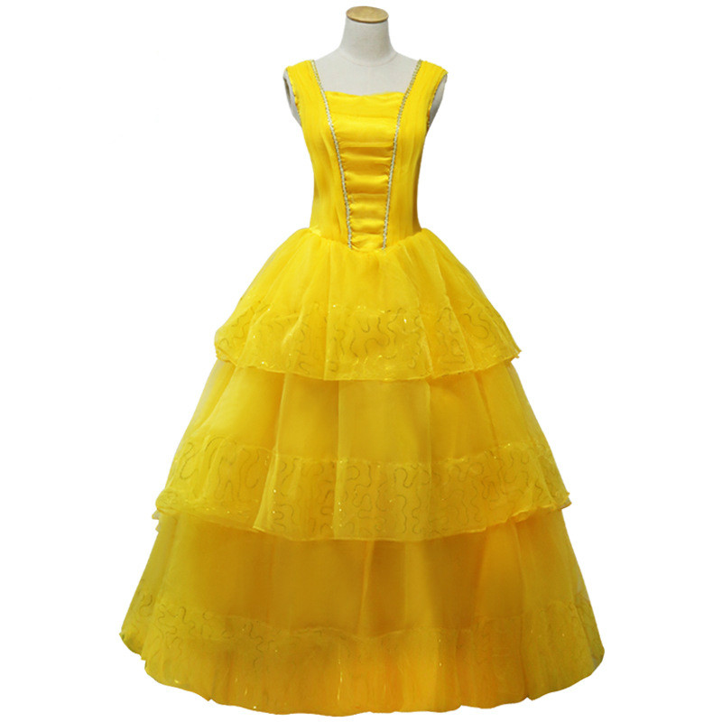 Adult Halloween Party Cosplay Costume Beauty and Beast Belle Princess Dress Performance Cos Clothes