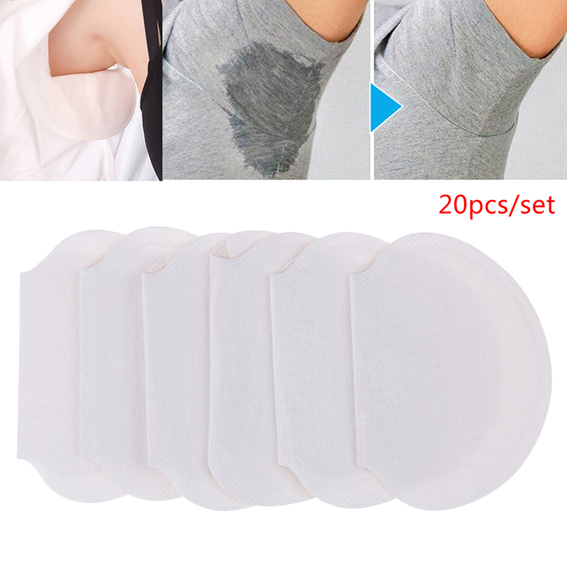 20pcs Disposable Armpit Sweat Pads Underarm Guard Pads Deodorant Stop Perspiration For Summer Clothing Gaskets