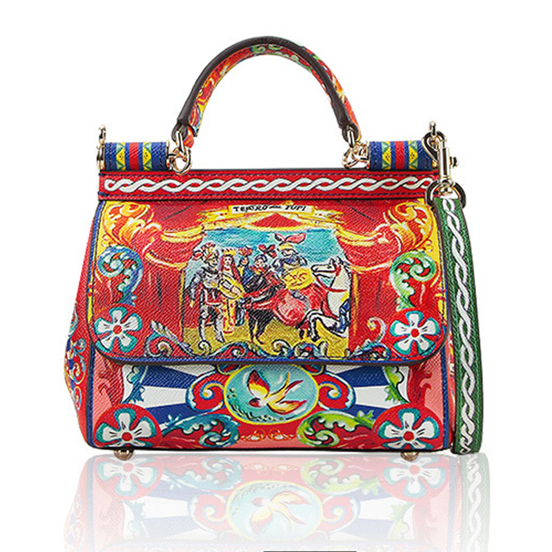 ethnic-style-printing-bag-sicily-casual-portable-platinum-package-leather-shoulder-bag