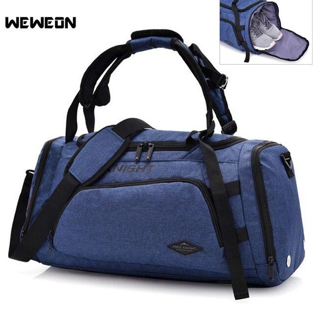 55e38fea95f5 Новый Терилен унисекс спортивные Фитнес сумка Многофункциональный рюкзак  Сумки для зала для хранения обуви тренировки путешествия