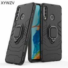 For Huawei P30 Lite Case Armor Silm Metal Finger Ring Holder Phone Back Cover