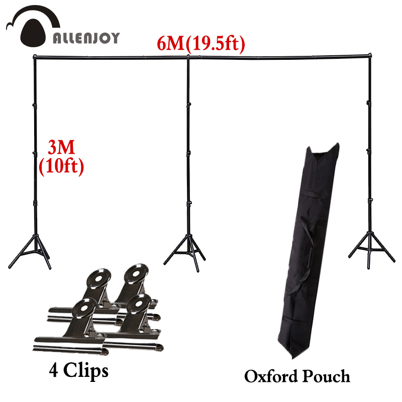 Allenjoy 3x6M professional big adjustable backdrop stand background support holder system photography accessories photo studio