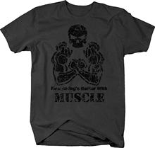 2020 New Fashion Cotton T-shirt Everything's Muscle Skull Trainings Workout T-shirt Casual Tee Shirt(China)