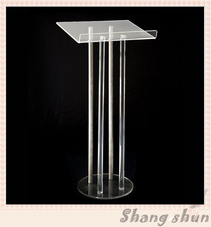 High Quality Acrylic Lectern Pulpit Acrylic Podium Acrylic Podium Stand Acrylic Podium Pulpit Lectern a suit of retro colored round bracelets for women