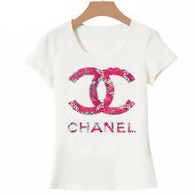 New Summer Women Tops Paris Brand T Shirt Runway Fashion T-S