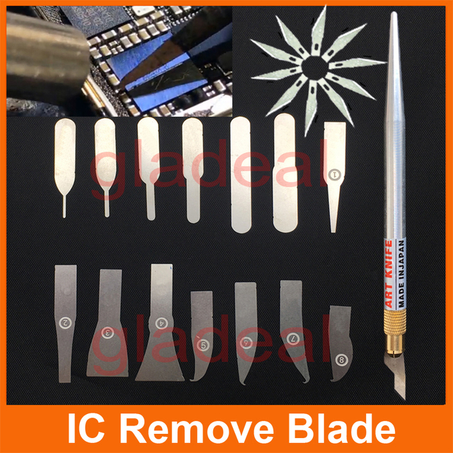 Latest IC Chip Repair Thin Blade Tool CPU Remover Burin To Remove iPhone Processors NAND Flash Mainboard For BGA Product