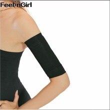 Preto braço shapers mulheres emagrecimento braço perda de peso queimador de gordura braços shapewear Slimmer cinturão senhoras quentes ombro corrector-C