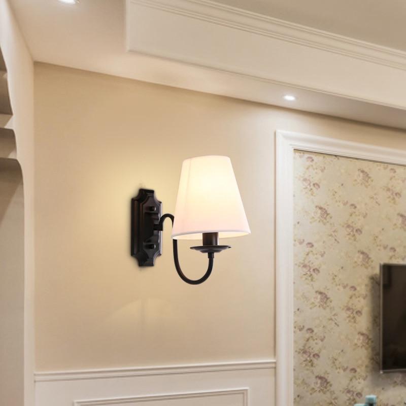 Nordique créativité lampe de chevet moderne salon lumières LED E 14 américain simple et Double tête applique murale de haute qualité
