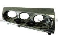 Для Mitsubishi Evolution EVO 10 Carbon Волокно M7 Стиль Трехместный Gauge Pod держатель 60 мм rhd Глянцевая волокна Интимные аксессуары отделкой автомобиль Стайли