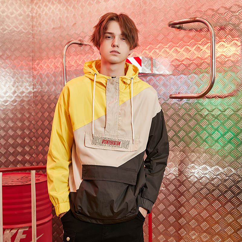 Japanese streetwear windbreaker