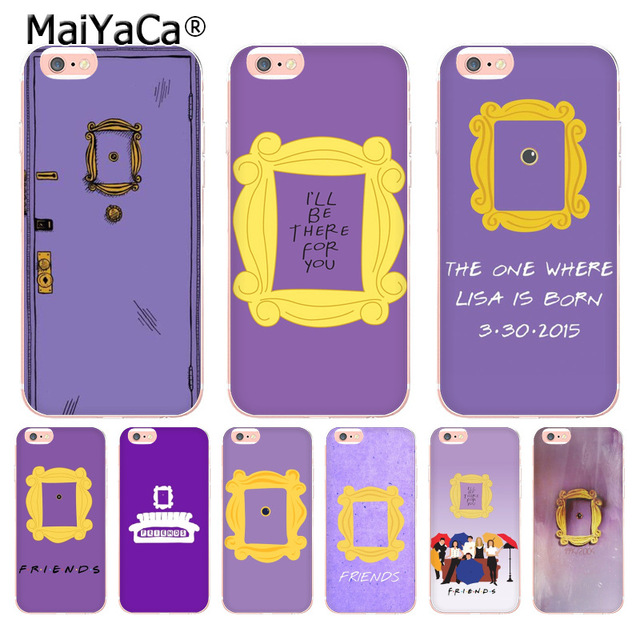 online retailer 68955 7a00e US $1.32 49% OFF|MaiYaCa For iphone 7 6 X Case friends tv series door  Transparent Phone Case for Apple iPhone 8 7 6 6S Plus X 5 5S SE 5C 4S  Cover-in ...