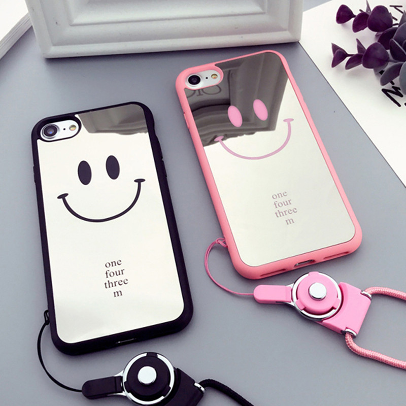 xinhu mirror smile phone case for apple iphone 7 case cute. Black Bedroom Furniture Sets. Home Design Ideas