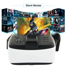 2017 New Android OS 5.5 inches T design bluetooth Virtual Reality 3D Glasses VR ALL IN ONE Headset Immersive experience