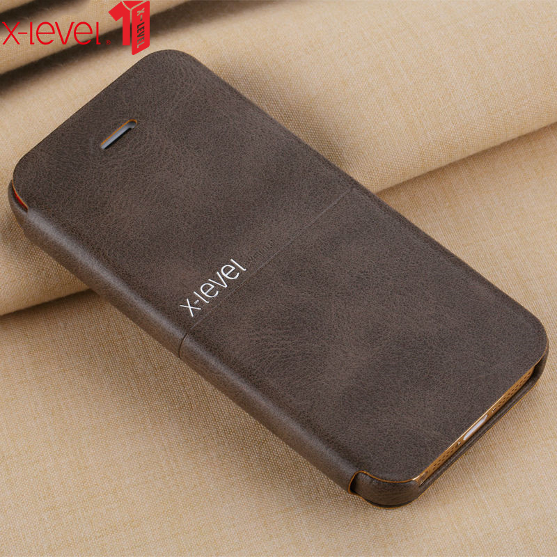X-level Leather Case For IPhone 5 5S SE Original Ultra Thin Business Style Phone Back Cover Coque For IPhone 5S SE Case