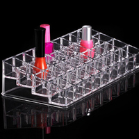 Makeup Organizer Acrylic 36 Grid Transparent Crystal Stand Clear Sundries Storage Containers Cosmetic Holder Box Lipstick