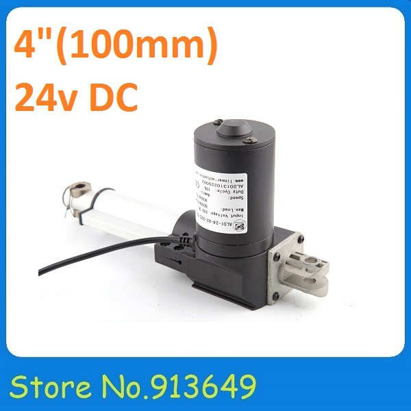 24V,100 mm/ 4 inch stroke, 6000N/600KG/1320LBS load linear actuator 1PC
