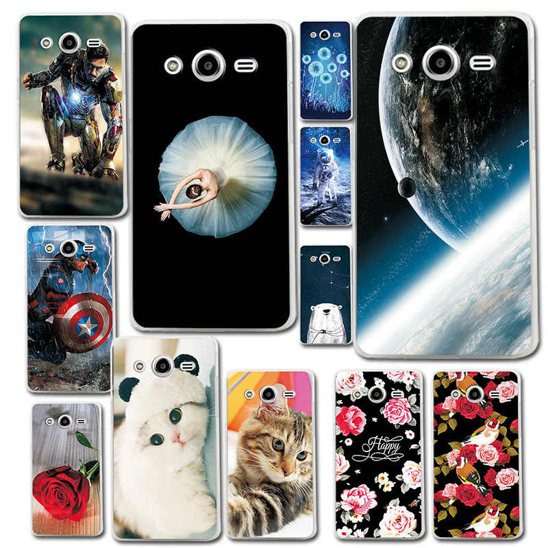Brilliant Phone Case For Samsung Core2 G355 Astronaut Cartoon Rabbit Soft Phone Capa Phantasy Phone Bags For Galaxy Core 2 G355H