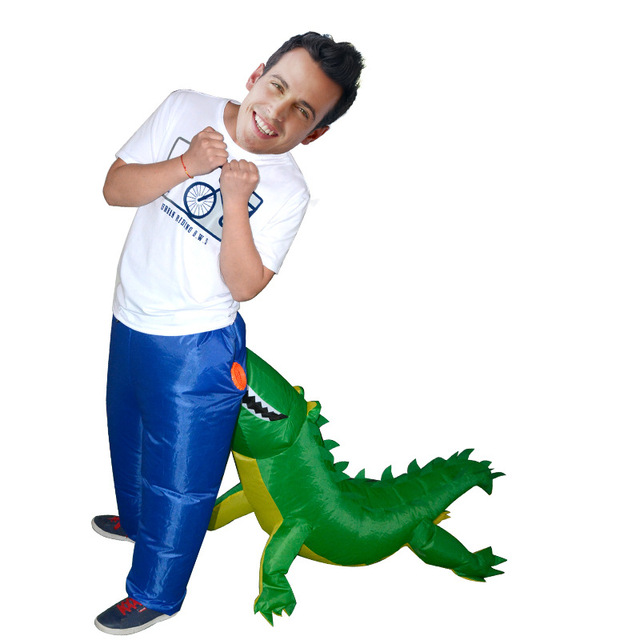 Halloween Funny Inflatable Dinosaur Costume Adults Party Crocodile Cosplay Costume For Women Men Ride on Costumes